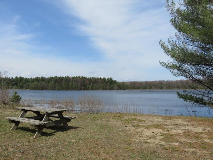 Lac de la Sauvagine, plutôt sympa pour prendre un goûter bien mérité